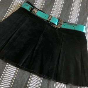 Bebe suede cheerleader skirt